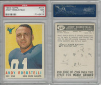 1959 Topps Football, #147 Andy Robustelli HOF, Giants, PSA 7 NM