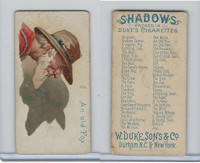 N87 Duke Cigarettes, Shadows, 1889, An Old Fox
