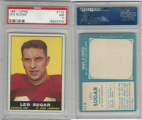 1961 Topps Football, #119 Leo Sugar, St. Louis Cardinals, PSA 7 NM