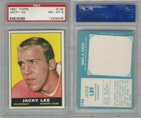 1961 Topps Football, #148 Jack Lee, Houston Oilers, PSA 8 NMMT