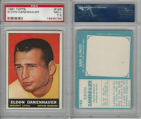 1961 Topps Football, #195 Eldon Danenhauer, Denver Broncos, PSA 7.5 NM+