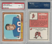 1966 Topps Football, #18 Dave Behrman, Buffalo Bills, PSA 8 NMMT