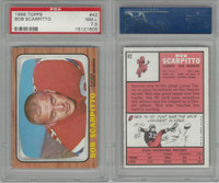1966 Topps Football, #42 Bob Scarpitto, Denver Broncos, PSA 7.5 NM+