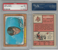 1966 Topps Football, #51 Ode Burrell, Houston Oilers, PSA 8 NMMT