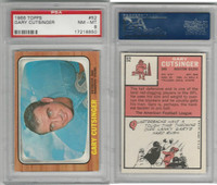 1966 Topps Football, #52 Gary Cutsinger, Houston Oilers, PSA 8 NMMT