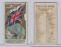 N9 Allen & Ginter, Flags of all Nations, 1887, English Penant, Union Jack