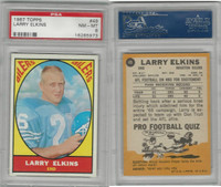 1967 Topps Football, #49 Larry Elkins, Houston Oilers, PSA 8 NMMT