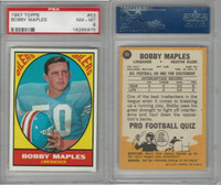 1967 Topps Football, #53 Bobby Maples RC, Houston Oilers, PSA 8 NMMT