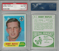 1968 Topps Football, #16 Bobby Maples, Houston Oilers, PSA 8 NMMT