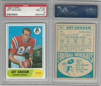 1968 Topps Football, #150 Art Graham, Boston Patriots, PSA 8 NMMT