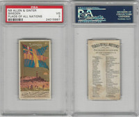 N9 Allen & Ginter, Flags of all Nations, 1887, Sweden, PSA 3 VG