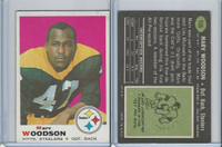 1969 Topps Football, #155 Marv Woodson, Pittsburgh Steelers