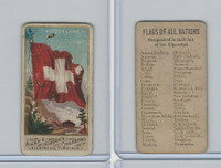N9 Allen & Ginter, Flags of all Nations, 1887, Switzerland