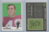1969 Topps Football, #159 Jim Burson, Atlanta Falcons