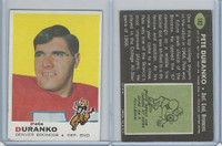 1969 Topps Football, #182 Pete Duranko, Denver Broncos