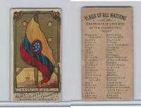 N9 Allen & Ginter, Flags of all Nations, 1887, US Of Columbia