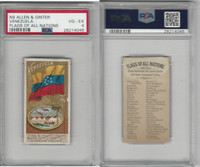 N9 Allen & Ginter, Flags of all Nations, 1887, Venezuela, PSA 4 VGEX