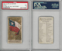 N9 Allen & Ginter, Flags of all Nations, 1887, Chile, PSA 3 VG