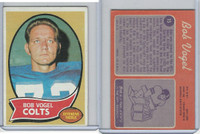 1970 Topps Football, #15 Bob Vogel, Baltimore Colts