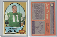 1970 Topps Football, #104 Jim Turner, New York Jets