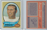 1970 Topps Football, #109 Bruce Gossett, San Francisco 49ers