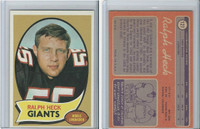 1970 Topps Football, #127 Ralph Heck, New York Giants