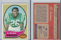 1970 Topps Football, #141 Al Nelson, Philadelphia Eagles