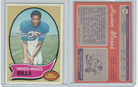 1970 Topps Football, #165 Haven Moses RC, Buffalo Bills