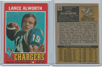1971 Topps Football, #10 Lance Alworth, San Diego Chargers