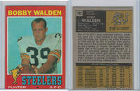 1971 Topps Football, #102 Bobby Walden, Pittsburgh Steelers