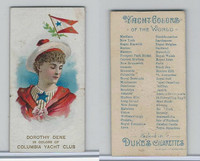 N91 Duke, Yacht Colors of the World, 1889, Columbia Yacht Club, D. Dene