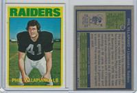 1972 Topps Football, #108 Phil Villapiano RC, Oakland Raiders