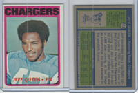 1972 Topps Football, #117 Jeff Queen, San Diego Chargers