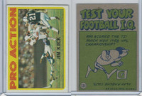 1972 Topps Football, #121 Jim Kiick (In Action) Miami Dolphins