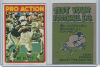 1972 Topps Football, #123 Bo Scott (In Action) Cleveland Browns