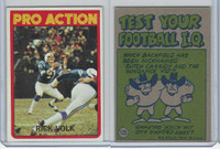 1972 Topps Football, #125 Rick Volk (In Action) Baltimore Colts