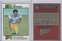 1973 Topps Football, #13 Cid Edwards, San Diego Chargers