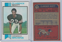 1973 Topps Football, #103 Clarence Scott RC, Cleveland Browns