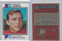 1973 Topps Football, #104 Charley Johnson, Denver Broncos