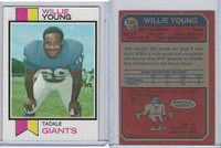 1973 Topps Football, #106 Willie Young, New York Giants