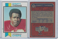 1973 Topps Football, #107 Emmitt Thomas Kansas City Chiefs