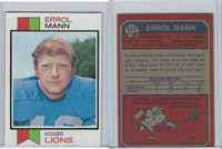 1973 Topps Football, #117 Errol Mann, Detroit Lions