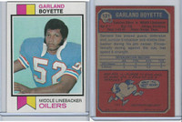 1973 Topps Football, #121 Garland Boyette, Houston Oilers