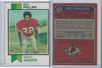 1973 Topps Football, #122 Mel Phillips, San Francisco 49ers