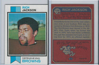 1973 Topps Football, #129 Rich Jackson, Cleveland Browns