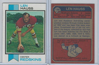 1973 Topps Football, #130 Len Hauss, Washington Redskins
