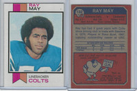 1973 Topps Football, #132 Ray May, Baltimore Colts