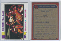 1973 Topps Football, #135 NFC Game Washington Redskins & Packers