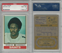 1974 Topps Football, #229 Bivian Lee, New Orleans Saints, PSA 8 NMMT