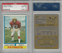 1974 Topps Football, #247 Sandy Durko, New England Patriots, PSA 8 NMMT